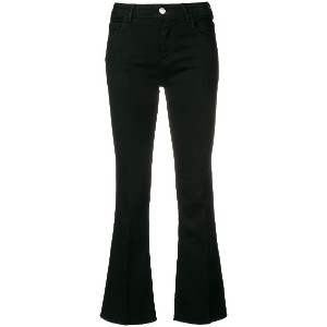 Haikure flared cropped jeans - ブラック