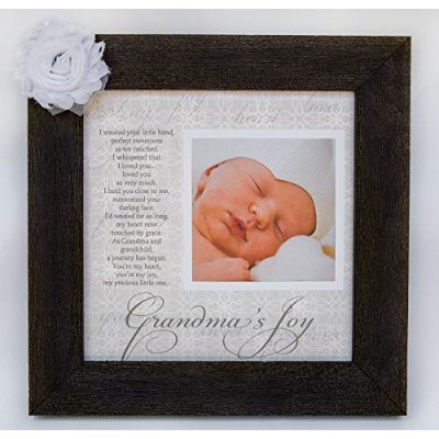 Grandma's Joy Picture Frame with Poetry - Barnwood by The Grandparents Gift Co.