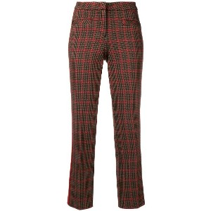 Cambio checked trousers - ブラック