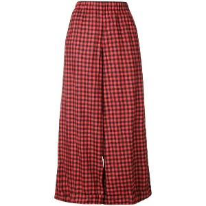 Daniela Gregis checked wide leg trousers - レッド