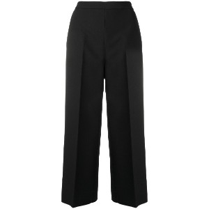 MSGM cropped tailored trousers - ブラック