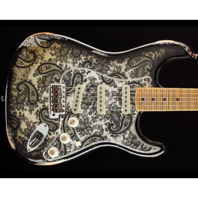 Fender Custom Shop 2018 Limited 1968 Stratocaster Relic Black Paisley