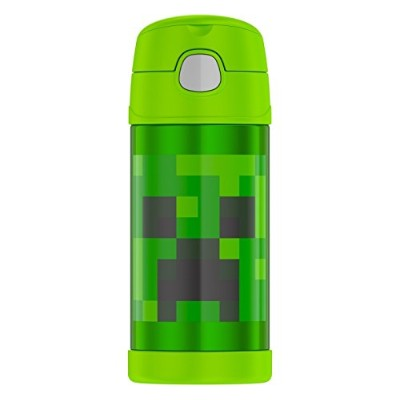 THERMOS MINECRAFT FUNTAINER サーモス マインクラフト クリーパー ストローボトル 355ml 水筒  弁当グッズ