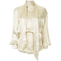 Layeur bow tie blouse - メタリック