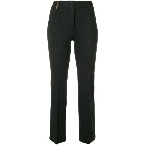 Peserico cropped bootcut trousers - グレー