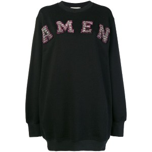 Amen logo sweatdress - ブラック