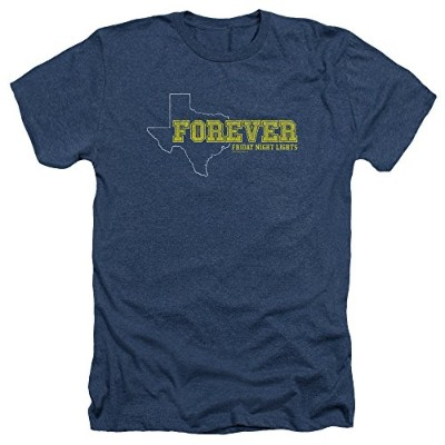 Trevco Friday Night Lights-Texas Forever Adult Heather Tee, Navy - 2X