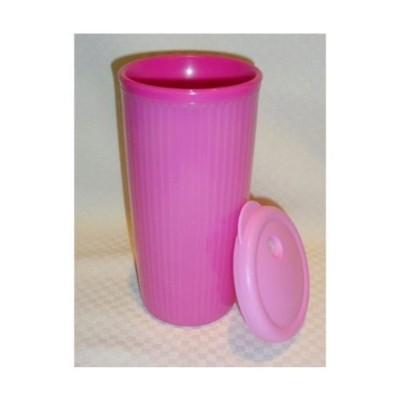 TupperwareピンクInsulated Tumbler withホワイトDripless Seal
