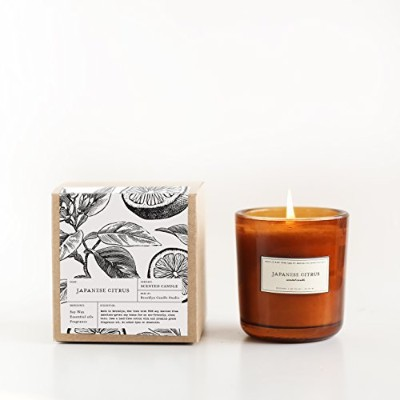 Japanese CitrusアンバーガラスApothecary Candle