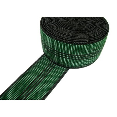 Pandoras Upholstery 10 m Elastic Webbing Chair Seat Settee Supplies, Green
