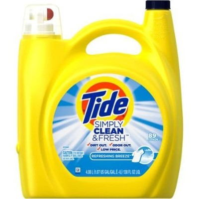 Simply Clean and Fresh Refreshing Breeze Liquid Laundry Detergent 89 Loads, 138 Fl Oz by Tide