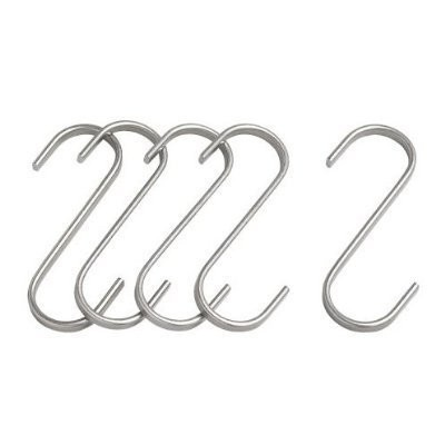Ikea Stainless Steel S-hook 700.113.97, 2.75-inch, Pack of 5 by Ikea