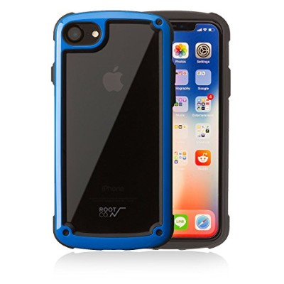【ROOT CO.】 iPhone8 iPhone7 ケース 耐衝撃 Gravity Shock Resist Tough & Basic Case. (ブルー)
