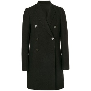 Rick Owens double breasted coat - ブラック