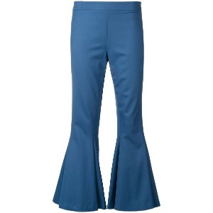 Marco De Vincenzo flared cropped trousers - ブルー
