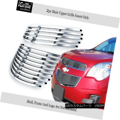 USグリル Fits 2010-2015 Chevy Equinox Stainless Steel Billet Grille Insert フィット2010-2015シボレーエクイノックスステンレ...