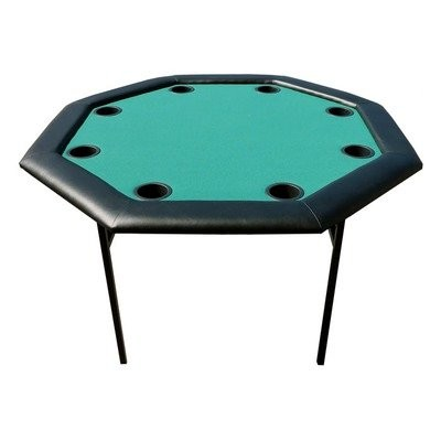Versa Games 48 Octagon Poker Table w/ Folding Legs - Green by Versa Games