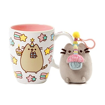 Pusheen Happy Birthday Celebration Mug And Pusheen誕生日バックパッククリップセット
