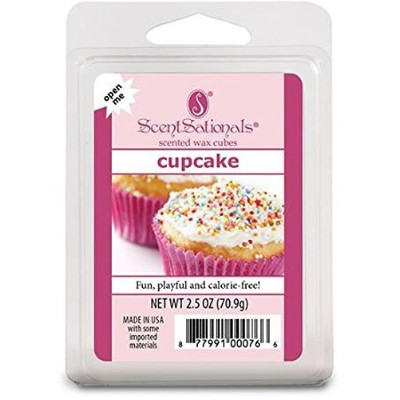 (1, Pink) - ScentSationals, Cupcake, Wickless Fragrance Cubes, Scented Wax