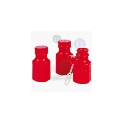 Mini Hexagon Red Bubble Bottles (4 dz) by Oriental Trading Company [並行輸入品]