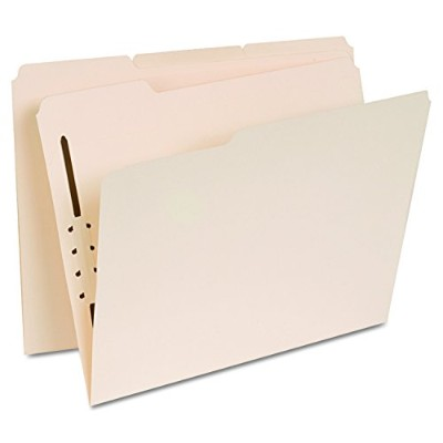 Manila Folders, One Fastener, 1/3 Tab, Letter, 50/Box (並行輸入品)