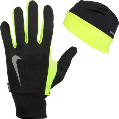 ナイキ 手袋・グローブ Dri - Fit Running Beanie/Glove Sets Black/Volt