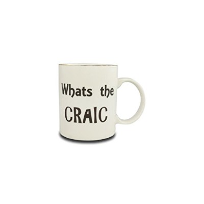 Irish Saying範囲Mug by Shannonbridge陶器 What's the Craic ホワイト