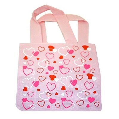 3 ~ Heart Mini Totes / Tote Bags ~ Approx. 6 X 6 with 4 1/2 Handles ~ New by FX
