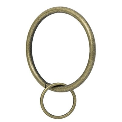 (Ant Brass) - Ivilon Drapery Eyelet Curtain Rings - 5.1cm Ring Loop for Hook Pins, Set of 14 -...