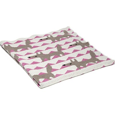 Baby Blanket - Cosy Blanket Eco Throw For Baby - Fox Pattern Made From Soft Cotton And Polyester...