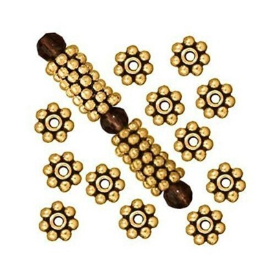 Beautiful Bead 400pcs Antique Gold Daisy Spacer Metal Beads 4mm by Beautiful Bead