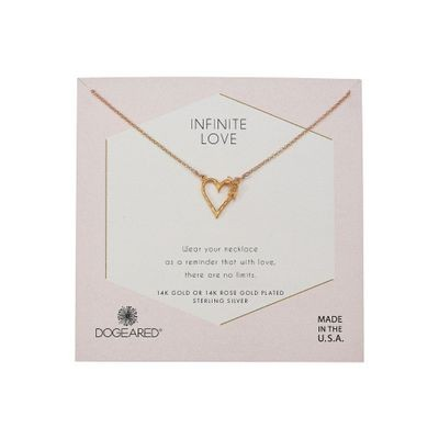 ドギャード ネックレス Infinite Love, Heart with Bloom-Love Charm Necklace Gold Dipped