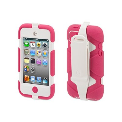 Griffinピンク/ホワイトSurvivor all-terrainケース+ベルトクリップfor Ipod Touch ( 4th Gen。)–extreme-duty Case For...