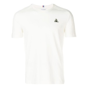 Le Coq Sportif logo embroidered T-shirt - ホワイト