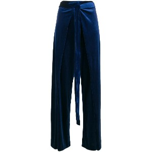 Rouge Margaux belted wide leg trousers - ブルー