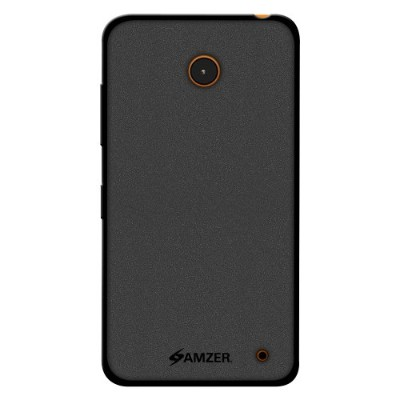 Amzer Pudding Soft Gel TPU Skin Fit Case Cover for Nokia Lumia 635/630 - Retail Packaging - Black...