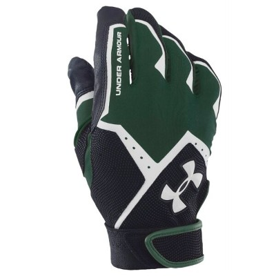 アンダーアーマー Under Armour ユニセックス 野球 グローブ【Adult Clean-Up VI Batting Gloves】Green/Black