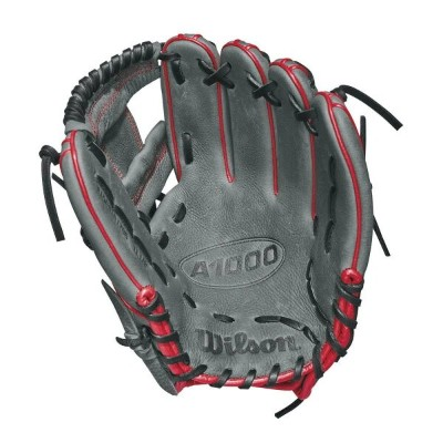 ウィルソン Wilson ユニセックス 野球 グローブ【2018 A1000 11.5 Inch Right Hand Throw Baseball Glove】Grey/Red