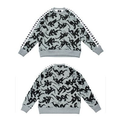 カッパ エーフォー KAPPA x A FOUR 長袖スウェット コラボ A.FOUR LABS AND SHAUNA T.(P.A.M) CREW KNIT SWEAT -GREY- メンズ...