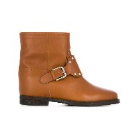 Via Roma 15 studded ankle boots - ブラウン
