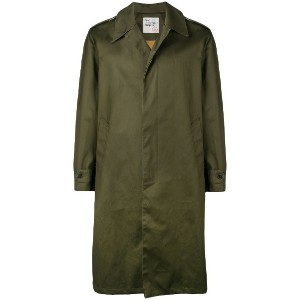 East Harbour Surplus single breasted trench coat - グリーン