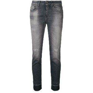 Closed distressed skinny jeans - グレー