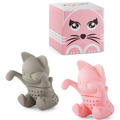 2x cat shaped tea infuser/steeper / strainer for loose tea leaves. A perfect novelty gift that is...