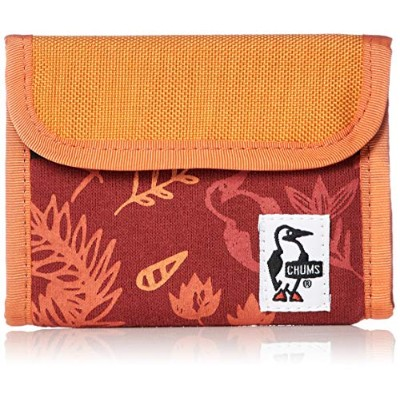 [チャムス]財布 Trifold Wallet Sweat Nylon Red Garden