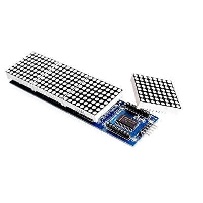 WINGONEER MAX7219 Dot Matrix Module For Arduino Microcontroller 4 In 1 Display with 5pin Line