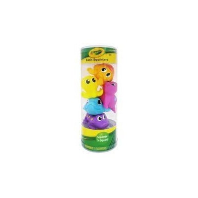 Crayola Bathtime Pals Squirt and Float Toys Squeeze 'N Squirt! (5 Squirters)