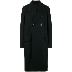 Rick Owens Officer double-breasted coat - ブラック