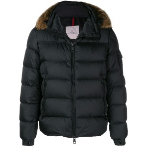 Moncler padded hooded jacket - ブラック