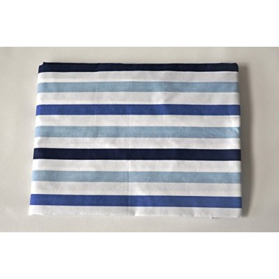 Little Sailor Stripes Printed Crib Fitted Sheet by Bacati