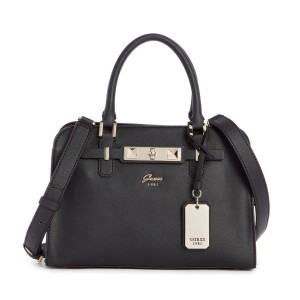 【SALE 30%OFF】ゲス GUESS CHERIE SMALL GIRLFRIEND SATCHEL (BLACK) レディース